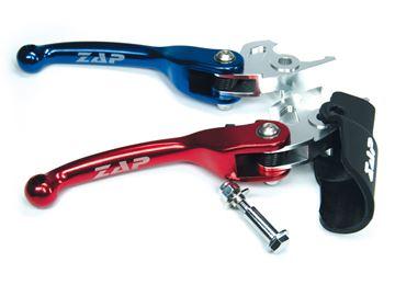 Afbeeldingen van Flex-brakelever Quad Yamaha Raptor 700 07-,YZF 450 07- blue