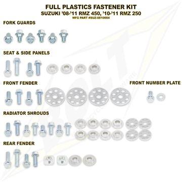 Afbeeldingen van Full Plastics Fastener Kit RMZ 450 08-, RMZ 250 10-
