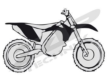 Afbeeldingen van Plastic kit KTM SX 125-505 07-, EXC 125-530 08- black 4 pcs.