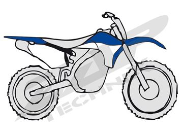 Picture of Plastic kit WRF 450 10-  blau/weiss OEM 2012