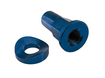 Afbeeldingen van billet rim lock spacer+ nut blue