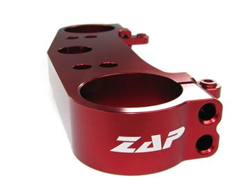 Afbeeldingen van ZAP top clamp above red anodizedCRF 250 10-, 450 09-  red