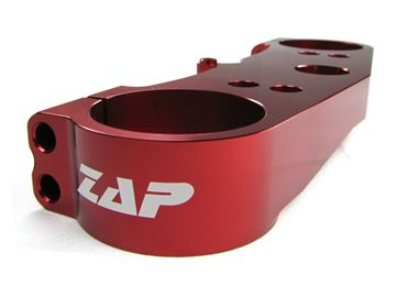 Picture of ZAP top clamp above KXF 250 11- red anodized