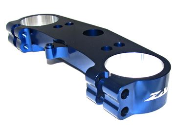 Picture of ZAP top clamp above KXF 450 09- blue anodized