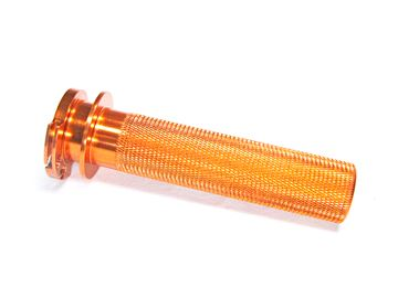 Picture of alu. throttel tube 2stroke KTM/Honda CR with bearing orange