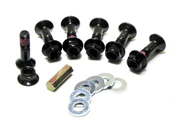 Afbeeldingen van Hub Savers Double Locked Sprocket Fastening Kit-Black Finish