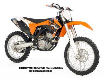 Picture of X3 Kpl. Anlage Edelstahl/titan KTM EXC 350 2012-