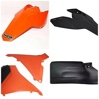 Afbeelding voor categorie Zijschilden/ Filterbakdelen/ Spatlappen Ktm