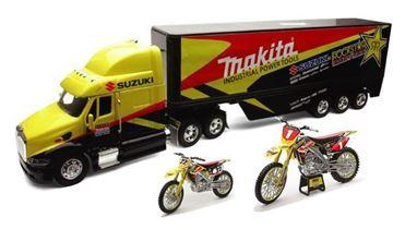 Afbeeldingen van Gift set Truck + Motor 1:12 + Motor 1:18 Suzuki Chad Reed