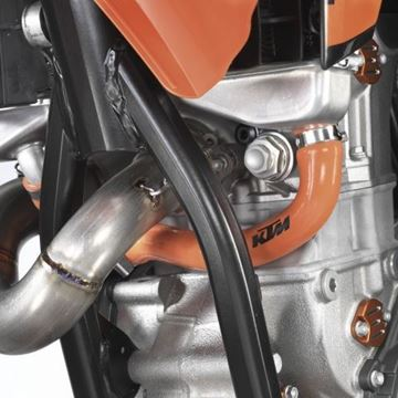 Picture of ORANGE RADIATOR HOSES250 SX-F 07-10, 250 EXC-F 07-11