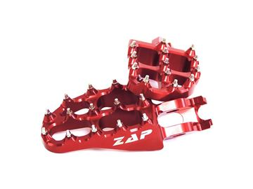 Picture of ZAP E-Peg footpegs CR/CRF 02- red