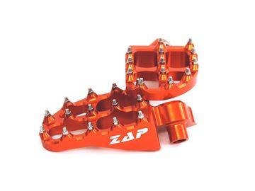 Afbeeldingen van ZAP-E-Peg footpegs KTM 125-530 SX(F)/EXC orange * incl. springs *