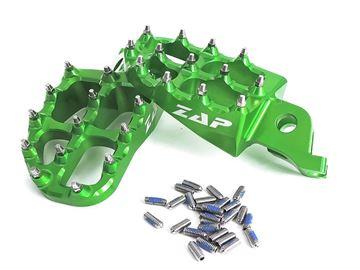 Afbeeldingen van ZAP E-Peg footpegs KXF 250 06- / 450 07- green