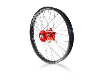 Picture of ART complete front wheel CRF250/450 02/2016- 21x1.60 black rim/red hub Honda CRF-R