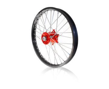 Afbeeldingen van ART complete front wheel CRF250/450 02/2016- 21x1.60 black rim/red hub Honda CRF-R