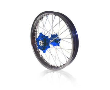 Afbeeldingen van ART complete rear wheel WRF450 09/2017-18x2.15 black rim/blue hub Yamaha YZ-F (enduro conversion)
