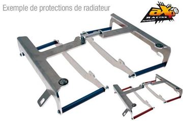 Picture of AXP ALUMINIUM RADIATOR GUARDS WITH BLACK SPACERS YAMAHA YZ250F/YZ450F 2014/2017