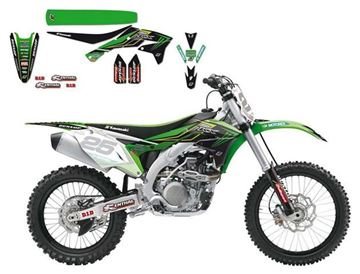 Afbeeldingen van DECAL KIT BLACKBIRD REPLICA 2016 KAWASAKI KX450F 16 KRT MONSTER ENERGY