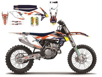 Picture of DECAL KIT MET ZADELOVERTREK BLACKBIRD REPLICA 2016 KTM SX/SX-F 13-15 & EXC 14-16 TEAM TROPHY