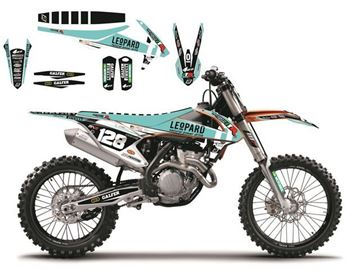 Picture of DECAL KIT MET ZADELOVERTREK BLACKBIRD REPLICA 2016 KTM SX/SX-F 13-15 & EXC 14-16 MARCHETTI RACING