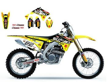 Afbeeldingen van DECAL KIT BLACKBIRD REPLICA 2016 SUZUKI RM125/250 01-08 MXGP