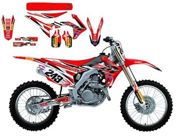 Afbeeldingen van DECAL KIT MET ZADELOVERTREK BLACKBIRD REPLICA 2016 HONDA CRF250R 14-16/450R 13-16 GARIBOLDI