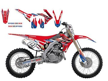 Afbeeldingen van DECAL KIT BLACKBIRD REPLICA 2016 HONDA CRF250R 14-16/450R 13-16 TEAM HRC HONDA