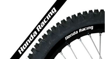 Picture of Blackbird universal replica Honda Racing black rim stickers kit