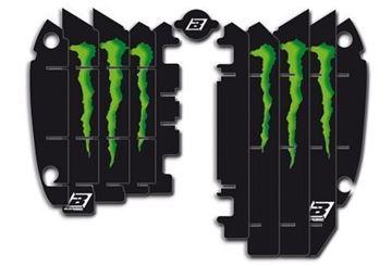 Picture of Blackbird replica KRT Monster Energy 2015 radiator louvers graphic kit Kawasaki KX250F
