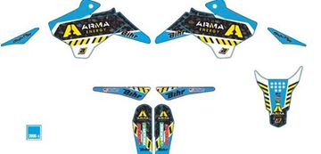 Picture of GRAPHIC KIT ARMA YCF 14-15 ALLE MODELLEN BEHALVE 50CC BLAUW
