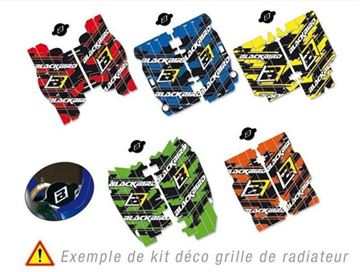 Afbeeldingen van GRAPHIC KIT RADIATORROOSTER YAMAHA YZ 125/250 02-15 BLAUW DREAM GRAPHIC III