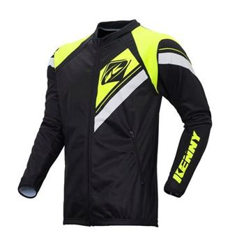 Picture of ENDURO ZIPPED CASAQUE  BLACK NEON YELLOW
