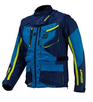 Picture of TITANIUM JACKET NAVY NEON YELLOW