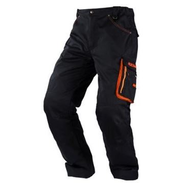 Picture of RACING PANTS BLACK/ORANGE