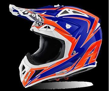 Picture of AIR-H-AV22EG18 ( )Helmet Offroad 'AVIATOR 2.2' Edge Blue gloss