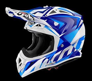Picture of AIR-H-AV22FL18 ( )Helmet Offroad 'AVIATOR 2.2' Flash Blue gloss
