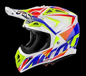 Picture of AIR-H-AV22FL38 ( )Helmet Offroad 'AVIATOR 2.2' Flash White gloss