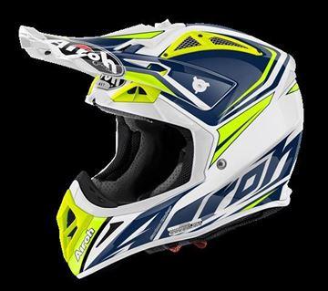 Picture of AIR-H-AV22RD18 ( )Helmet Offroad 'AVIATOR 2.2' Ready Blue gloss