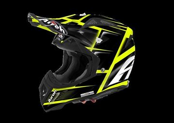 Afbeeldingen van AIR-H-AV22RE17 ( )Helmet Offroad 'AVIATOR 2.2' Reflex Black gloss