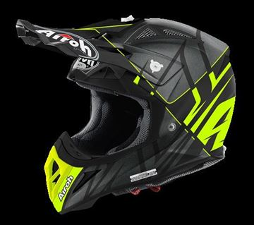 Picture of AIR-H-AV22SY31 ( )Helmet Offroad 'AVIATOR 2.2' Styling Yellow matt