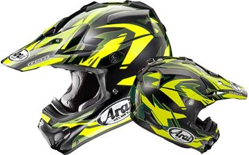 Picture of Arai helm dazzle neon yellow