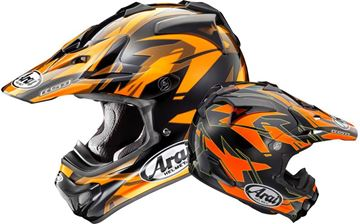 Picture of Arai helm dazzle orange