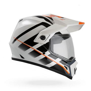 Afbeeldingen van HELMET BELL MX-9 ADVENTURE RAID ORANGE/WHITE   S t/m XXL