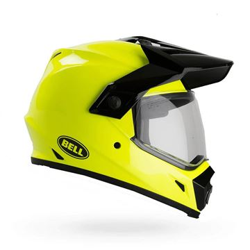 Picture of HELMET BELL MX-9 ADVENTURE SOLID HI-VIS YELLOW  XS t/m XXL