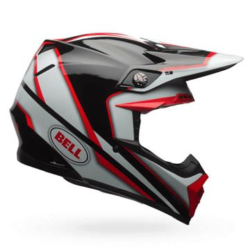 Picture of BELL Moto 9 Spark Helmet Red Black