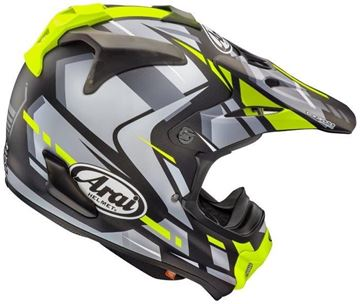 Picture of Justin Bogle Yellow Arai Helm