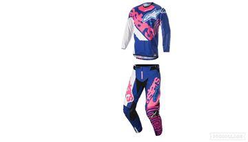 Afbeeldingen van Alpinestars 2018 Jeugd Racer Venom Crosspak Blauw Roze Wit
