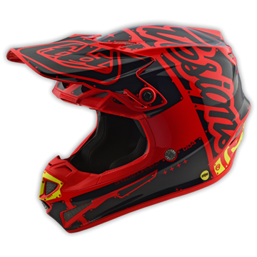 Afbeeldingen van Troy Lee Helm SE4 2018 Factory Red