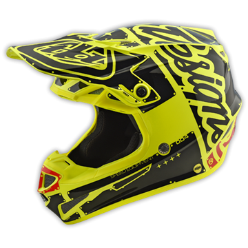 Afbeeldingen van Troy Lee Helm SE4 2018 Factory Yellow