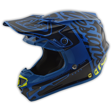 Afbeeldingen van Troy Lee Helm SE4 2018 Factory Blue